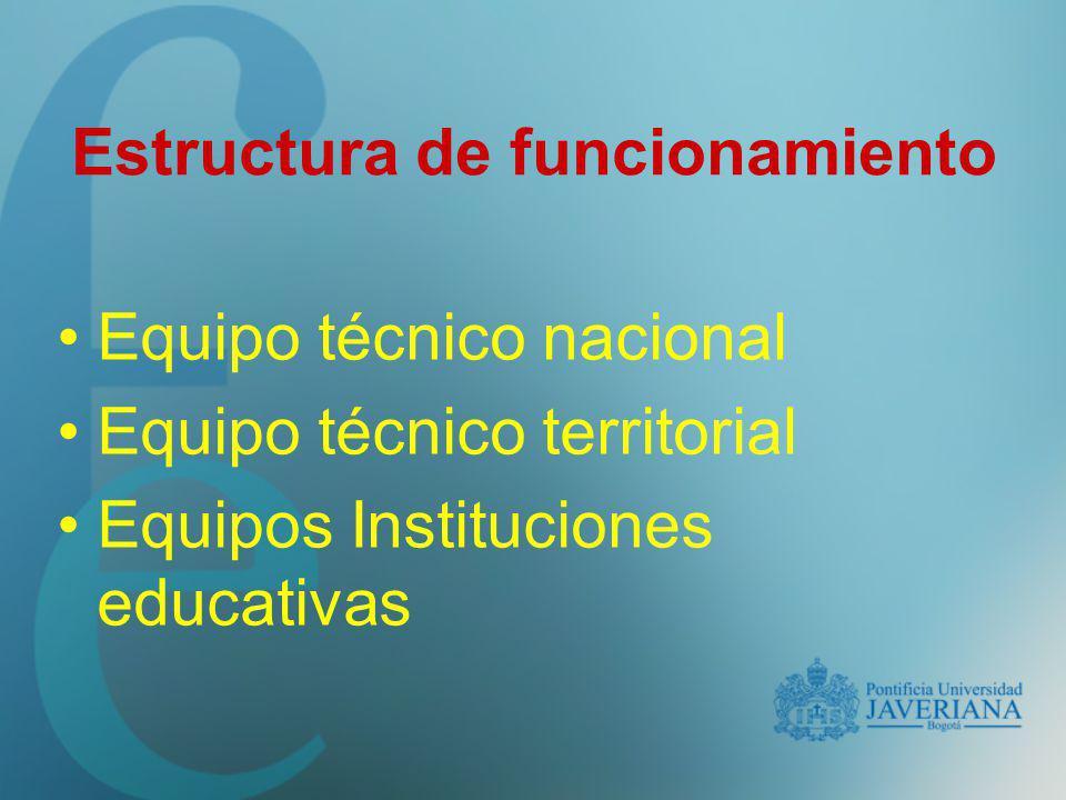Estructura de funcionamiento