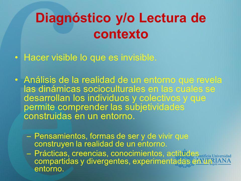 Diagnóstico y/o Lectura de contexto