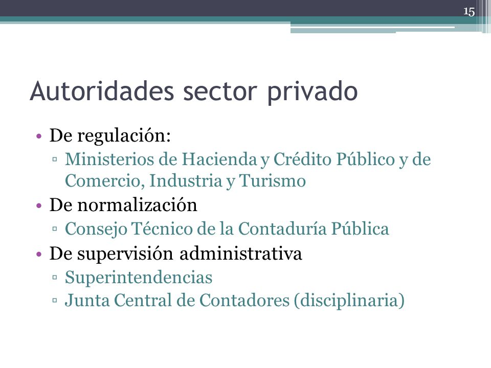 Autoridades sector privado