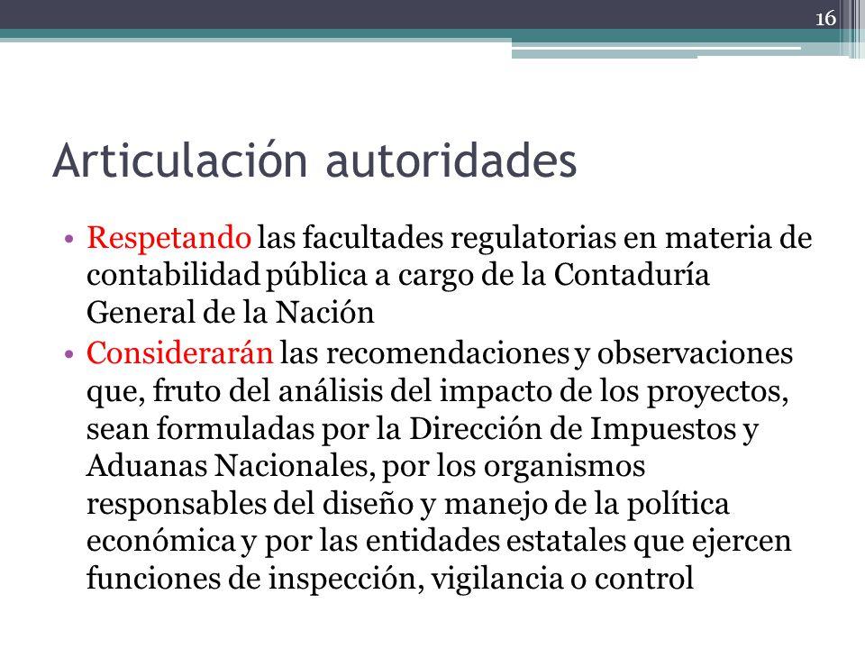 Articulación autoridades