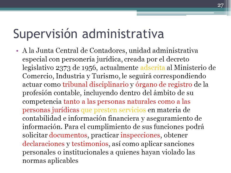 Supervisión administrativa