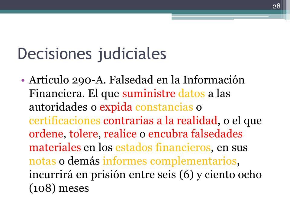 Decisiones judiciales