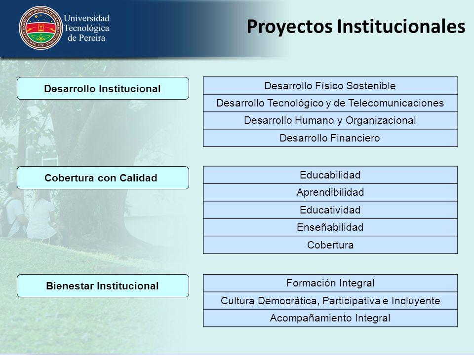 Desarrollo Institucional Bienestar Institucional