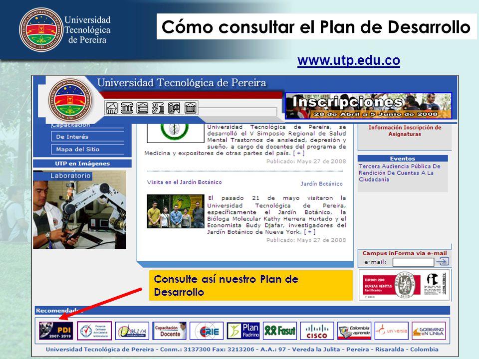 Cómo consultar el Plan de Desarrollo