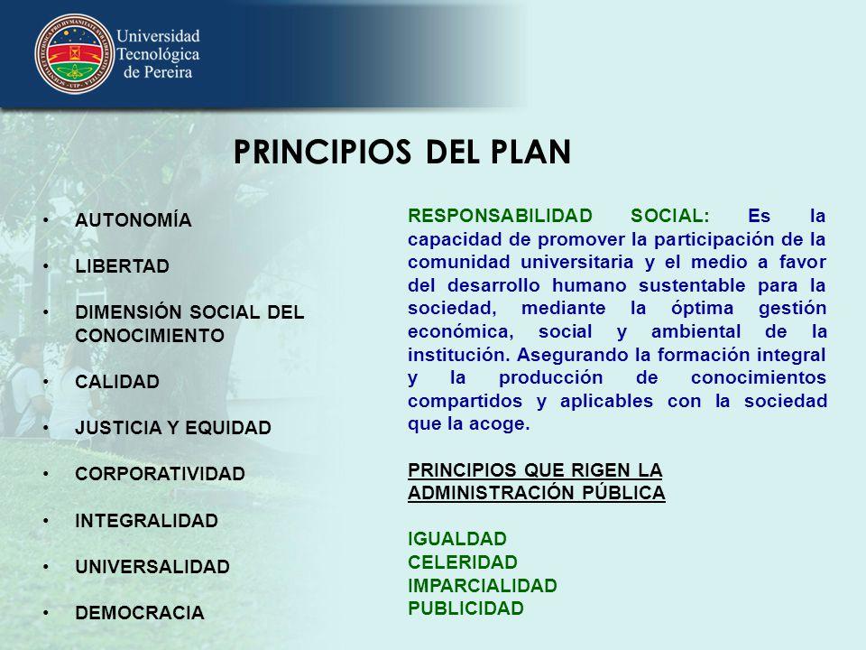 PRINCIPIOS DEL PLAN