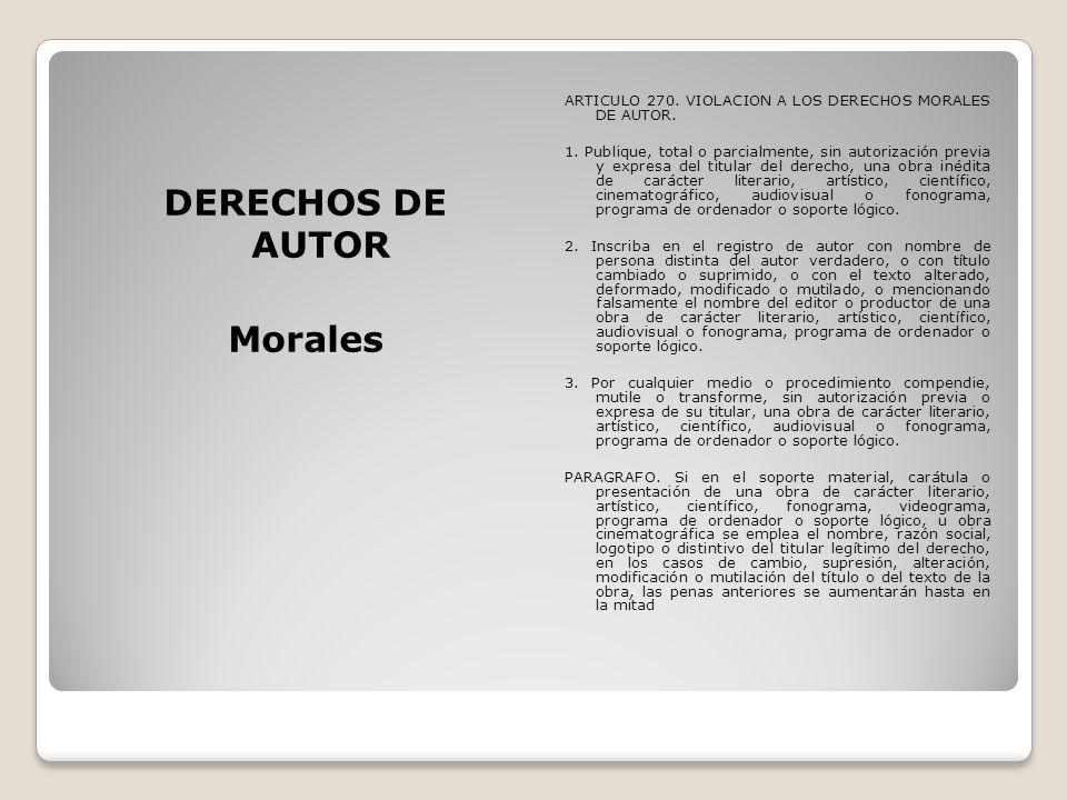 DERECHOS DE AUTOR Morales