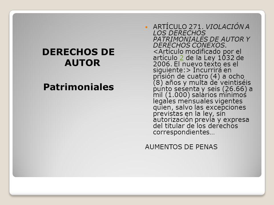 DERECHOS DE AUTOR Patrimoniales