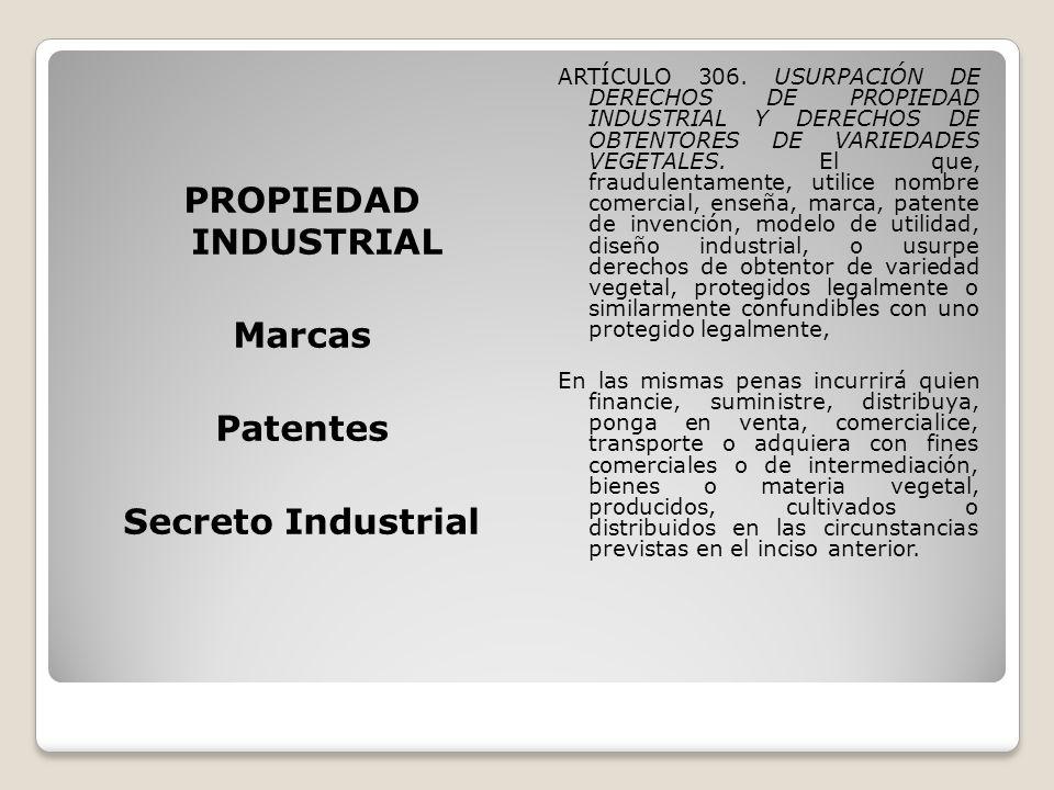 PROPIEDAD INDUSTRIAL Marcas Patentes Secreto Industrial