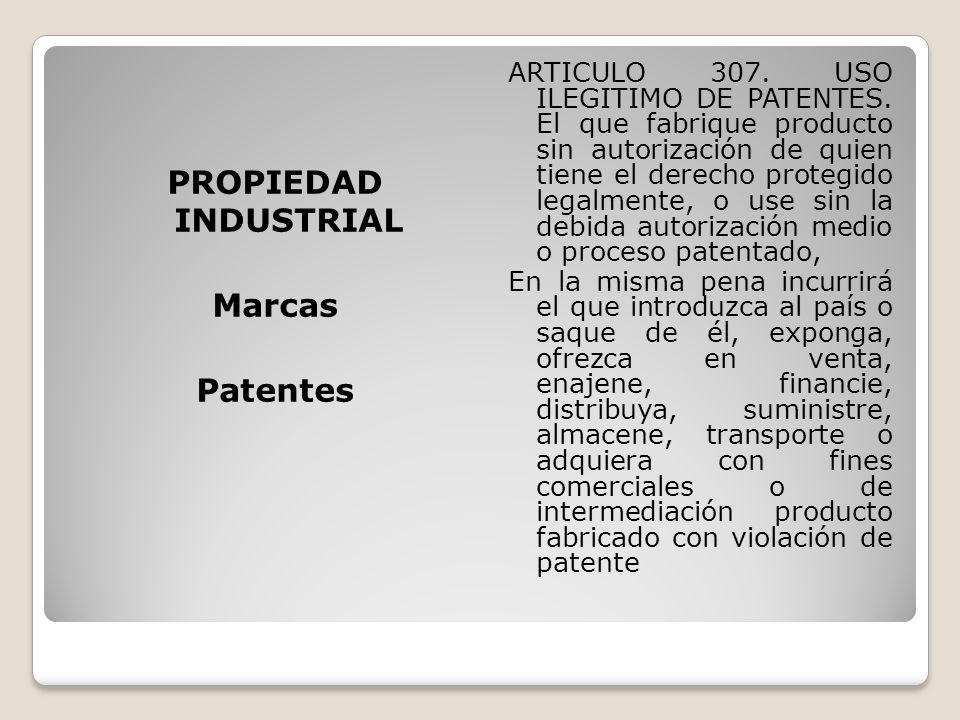 PROPIEDAD INDUSTRIAL Marcas Patentes