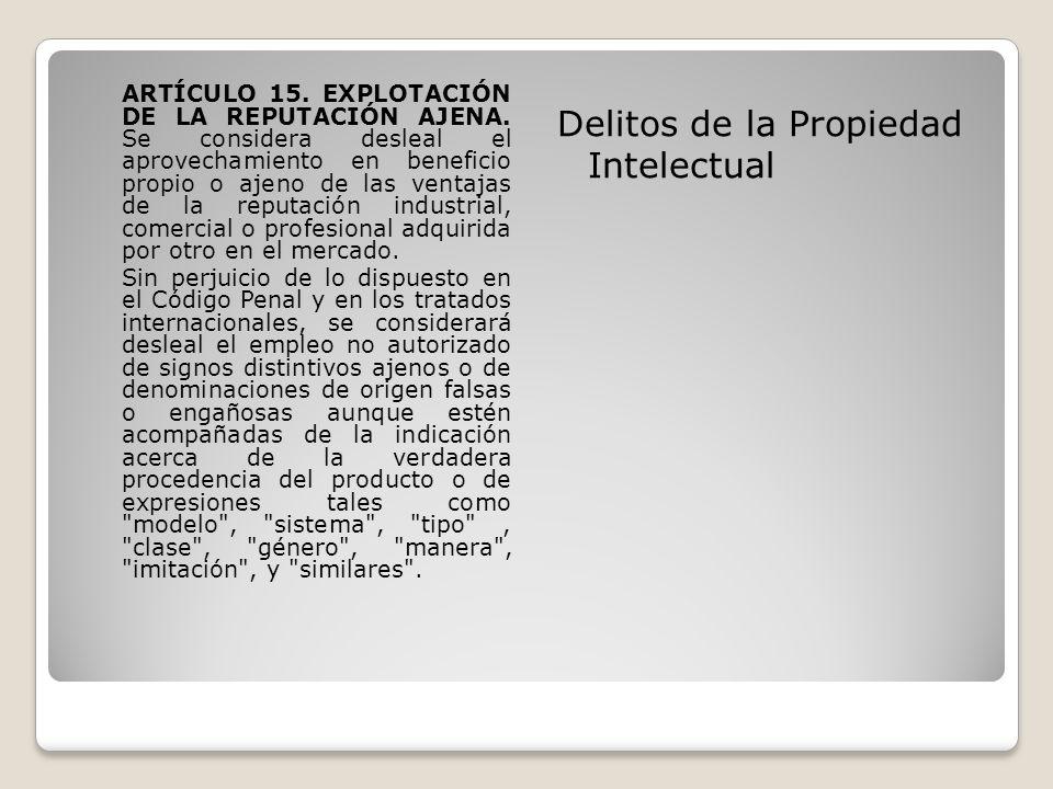 Delitos de la Propiedad Intelectual