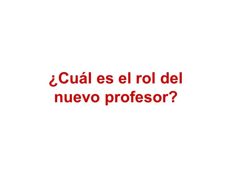 ¿Cuál es el rol del nuevo profesor