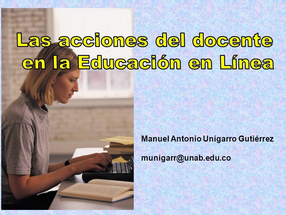Las acciones del docente en la Educación en Línea