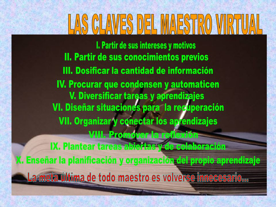 LAS CLAVES DEL MAESTRO VIRTUAL