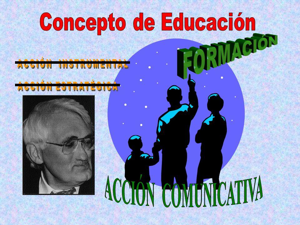 Concepto de Educación FORMACIÓN ACCIÓN INSTRUMENTAL ACCIÓN ESTRATÉGICA