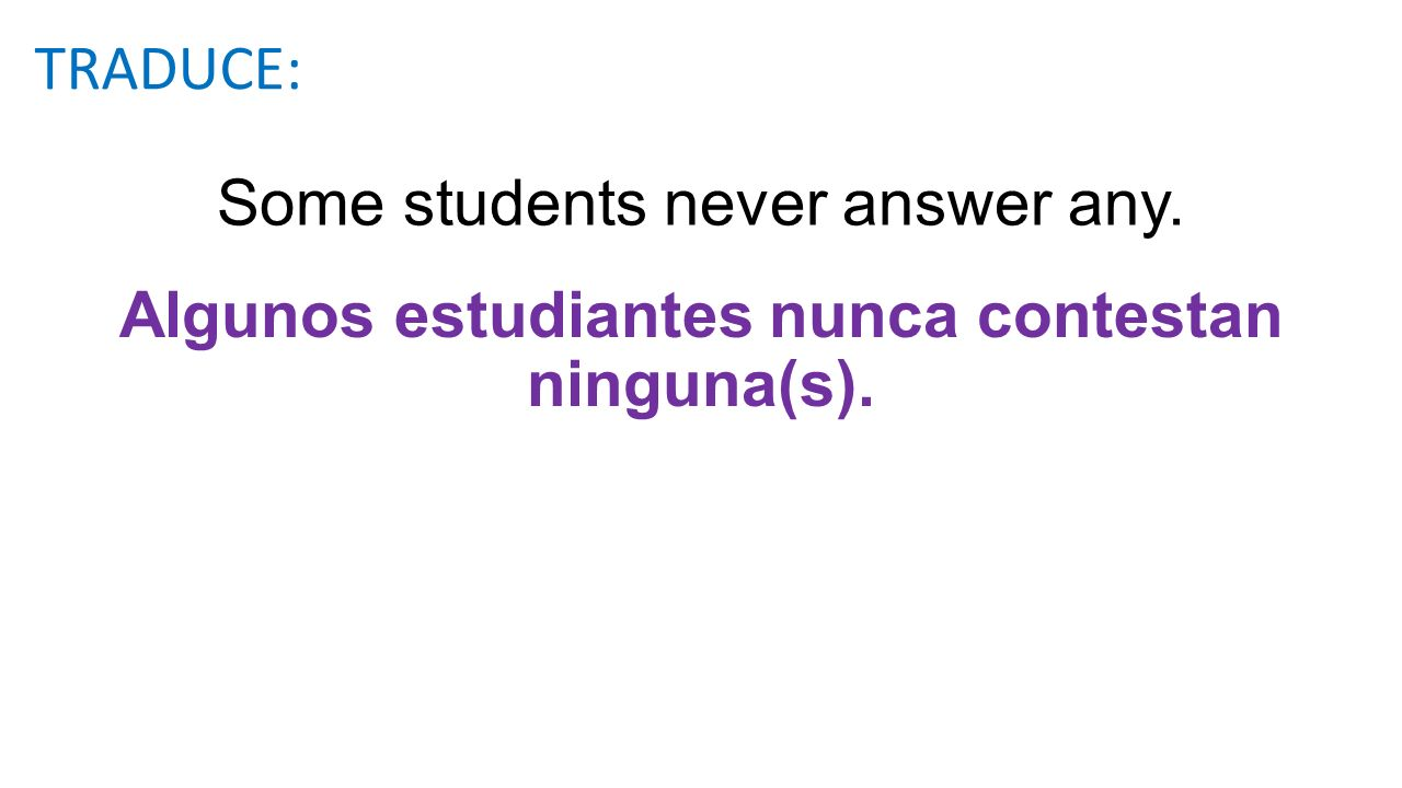 Some students never answer any.
