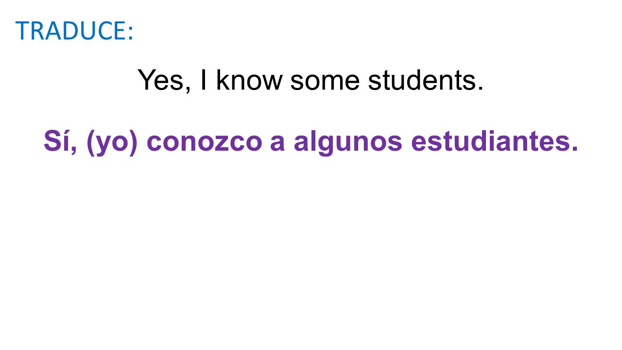 Yes, I know some students.