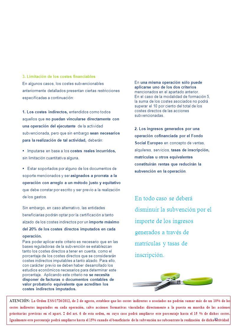 3. Limitación de los costes financiables