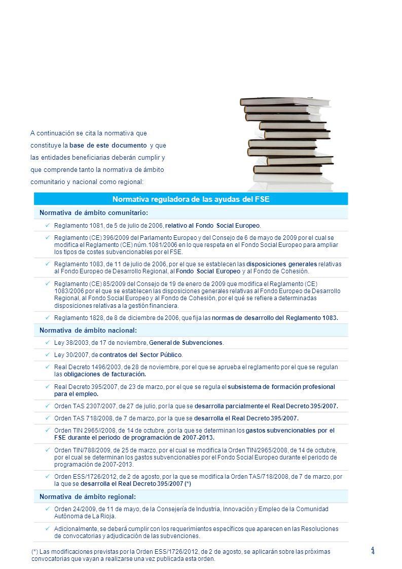 Normativa reguladora de las ayudas del FSE