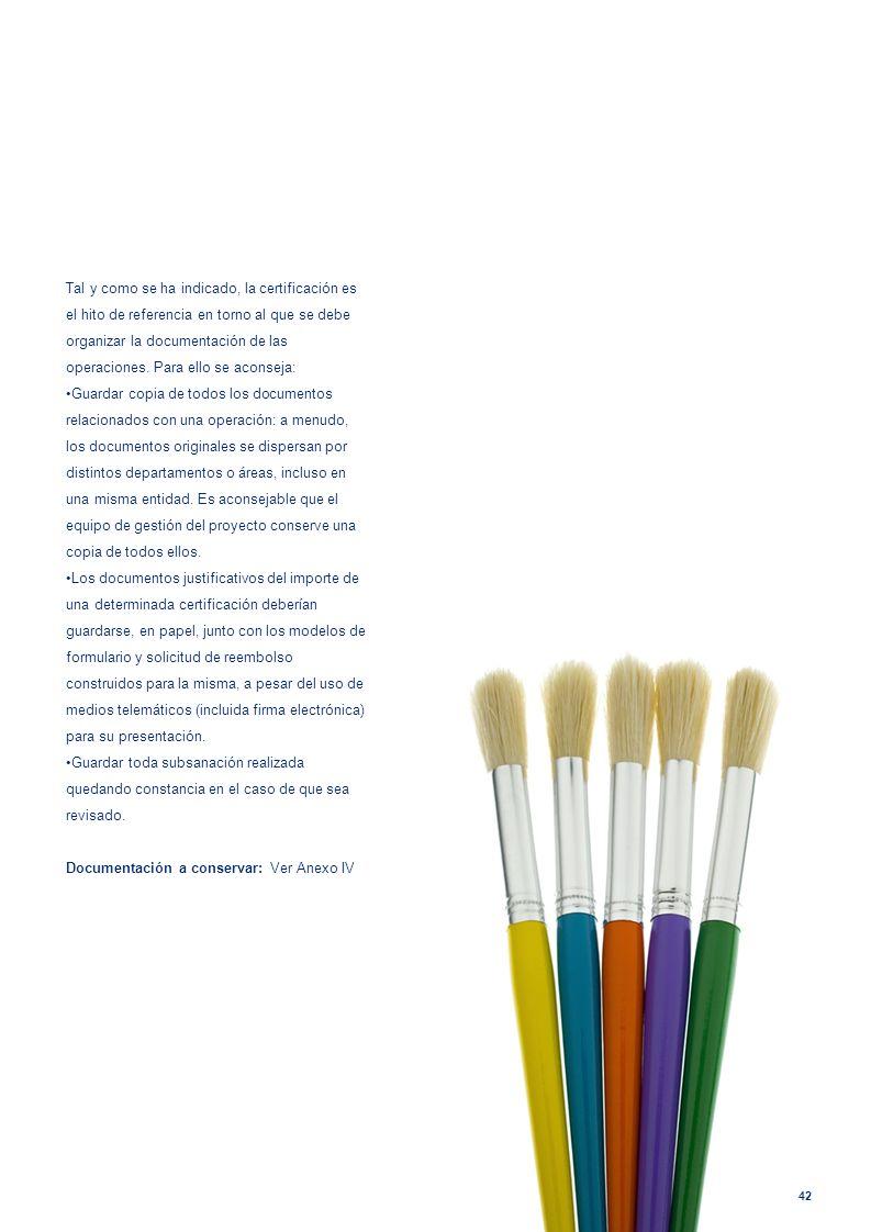Documentación a conservar: Ver Anexo IV