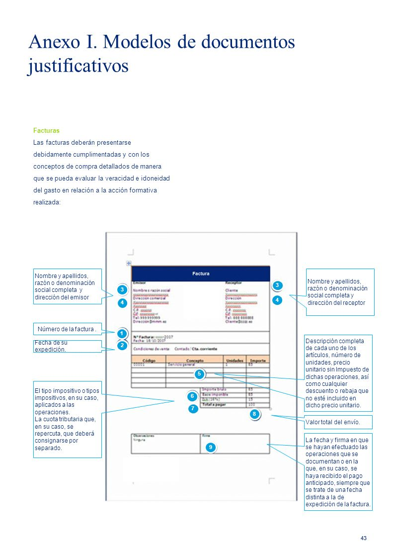 Anexo I. Modelos de documentos justificativos