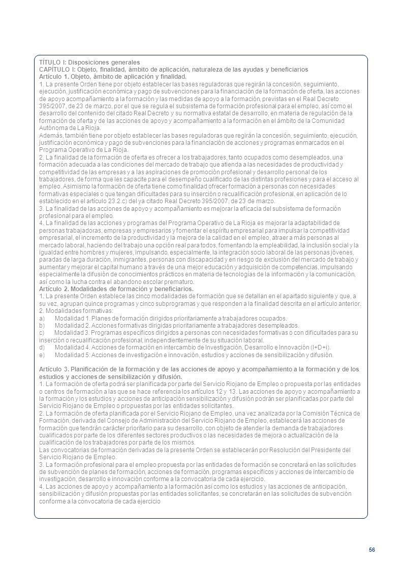 TÍTULO I: Disposiciones generales