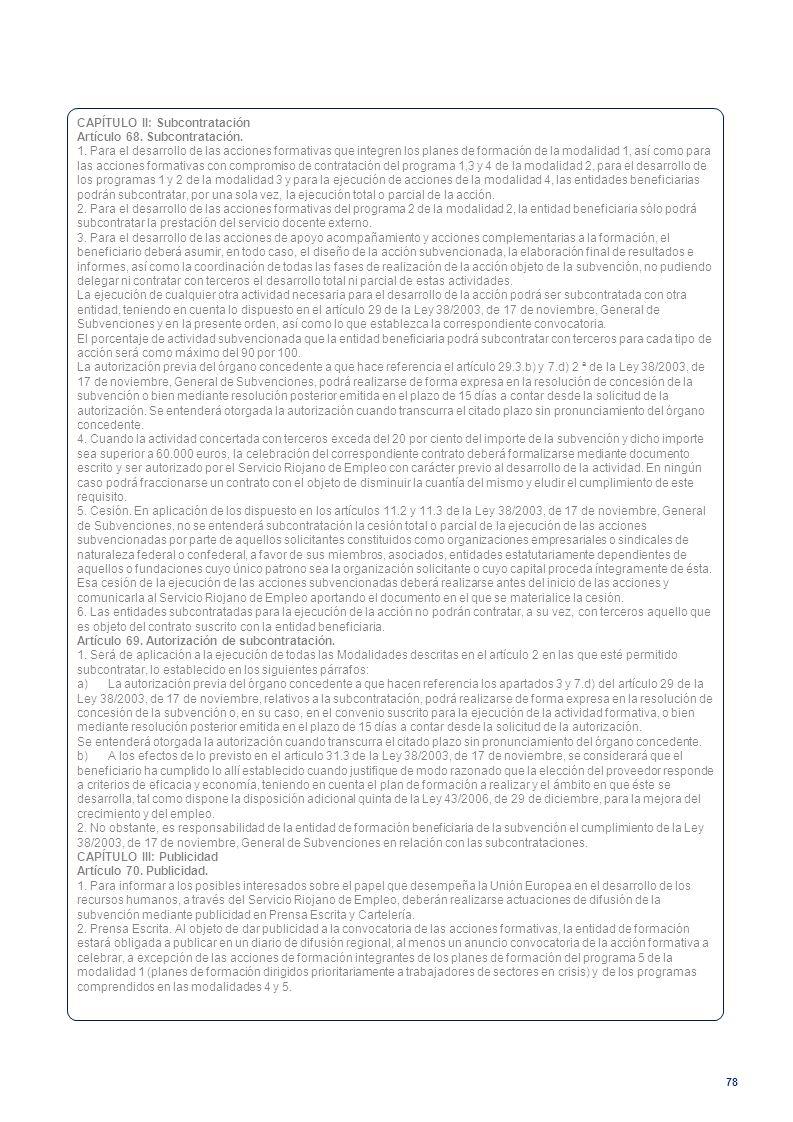 CAPÍTULO II: Subcontratación