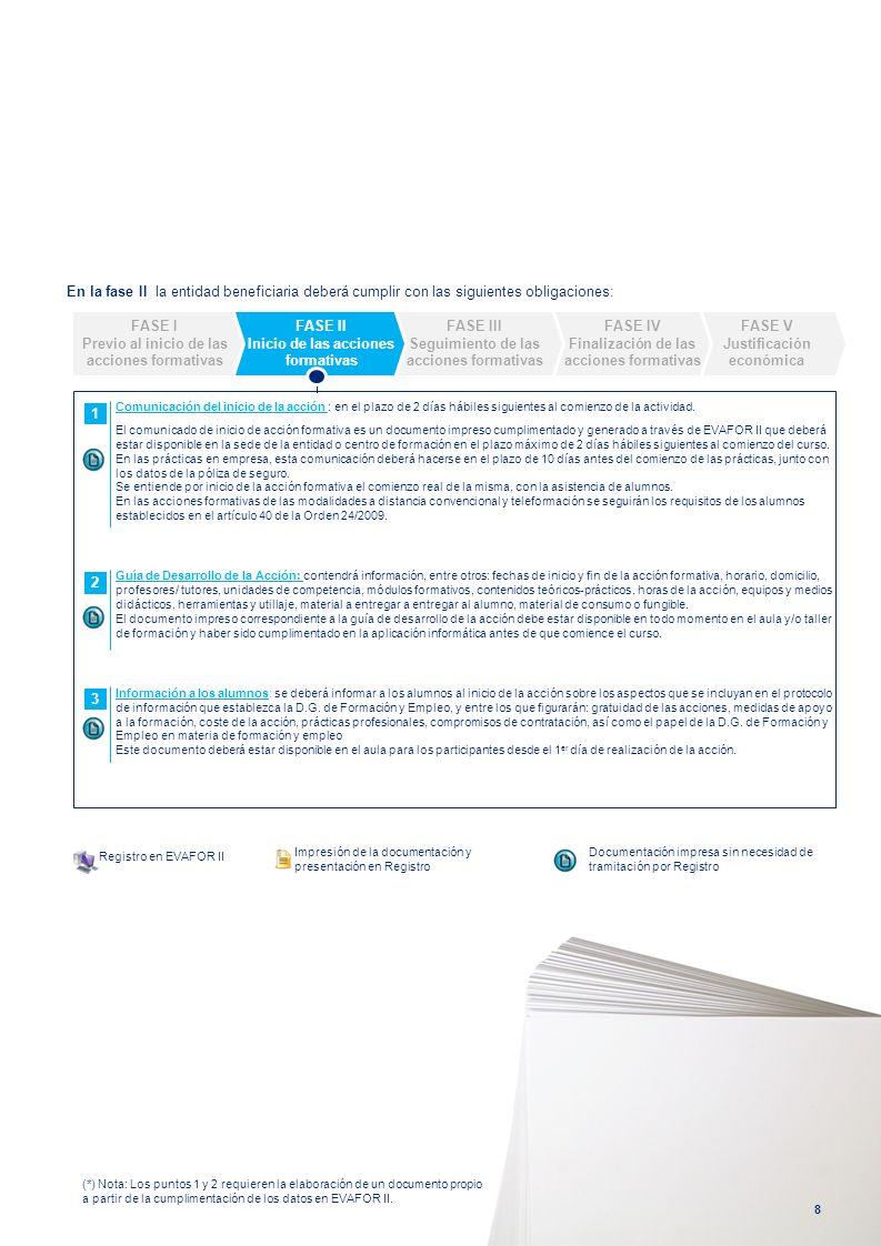 En la fase II la entidad beneficiaria deberá cumplir con las siguientes obligaciones: