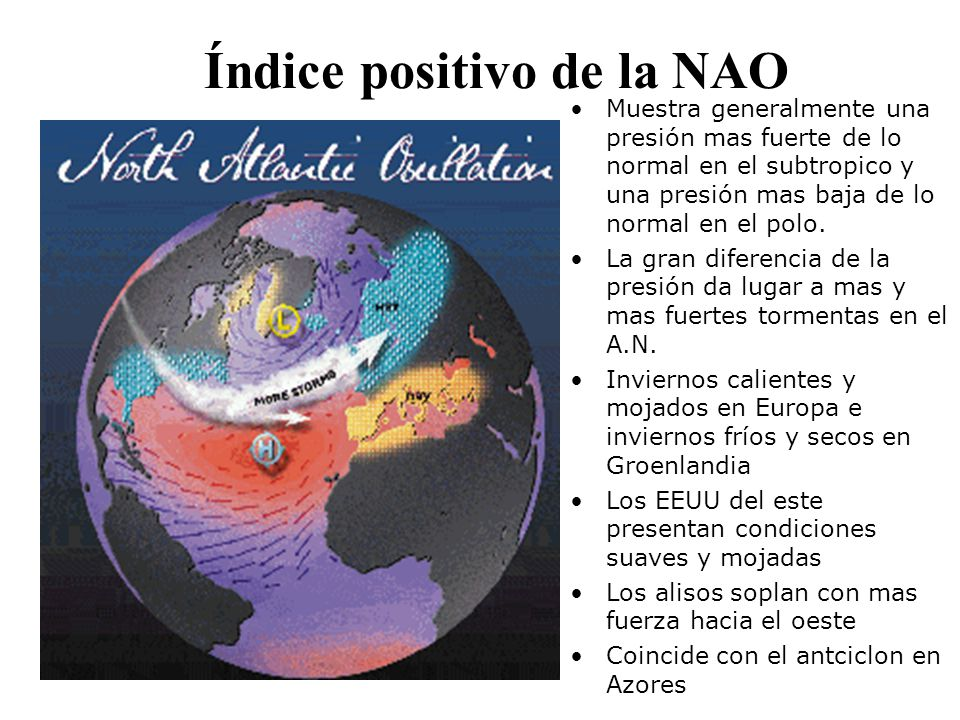 Índice positivo de la NAO
