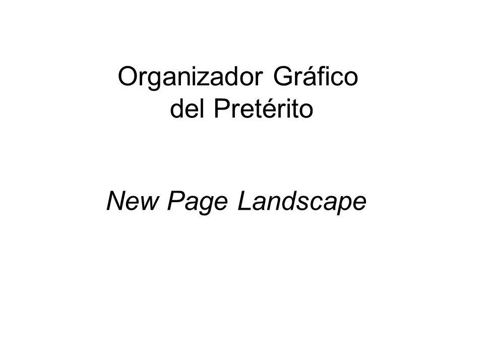 Organizador Gráfico del Pretérito