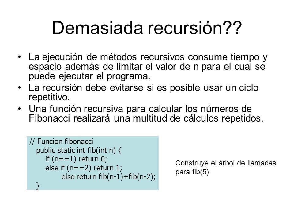 Demasiada recursión