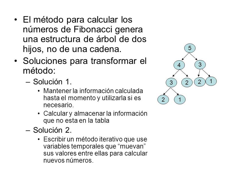 Soluciones para transformar el método:
