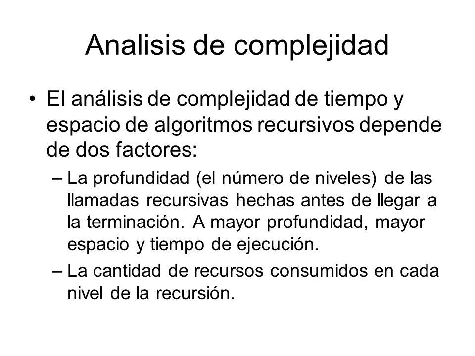 Analisis de complejidad