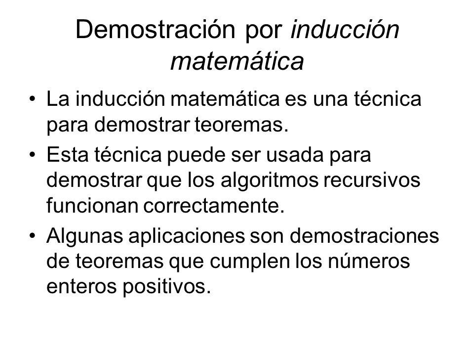 Demostración por inducción matemática