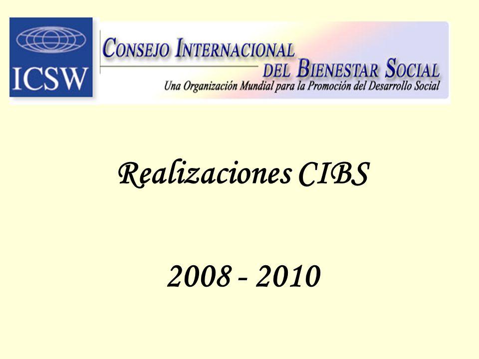 Realizaciones CIBS 2008 - 2010