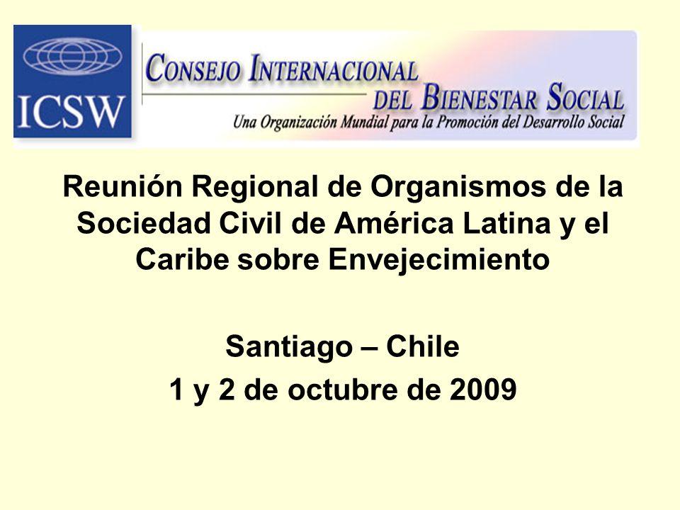 Reunión Regional de Organismos de la Sociedad Civil de América Latina y el Caribe sobre Envejecimiento