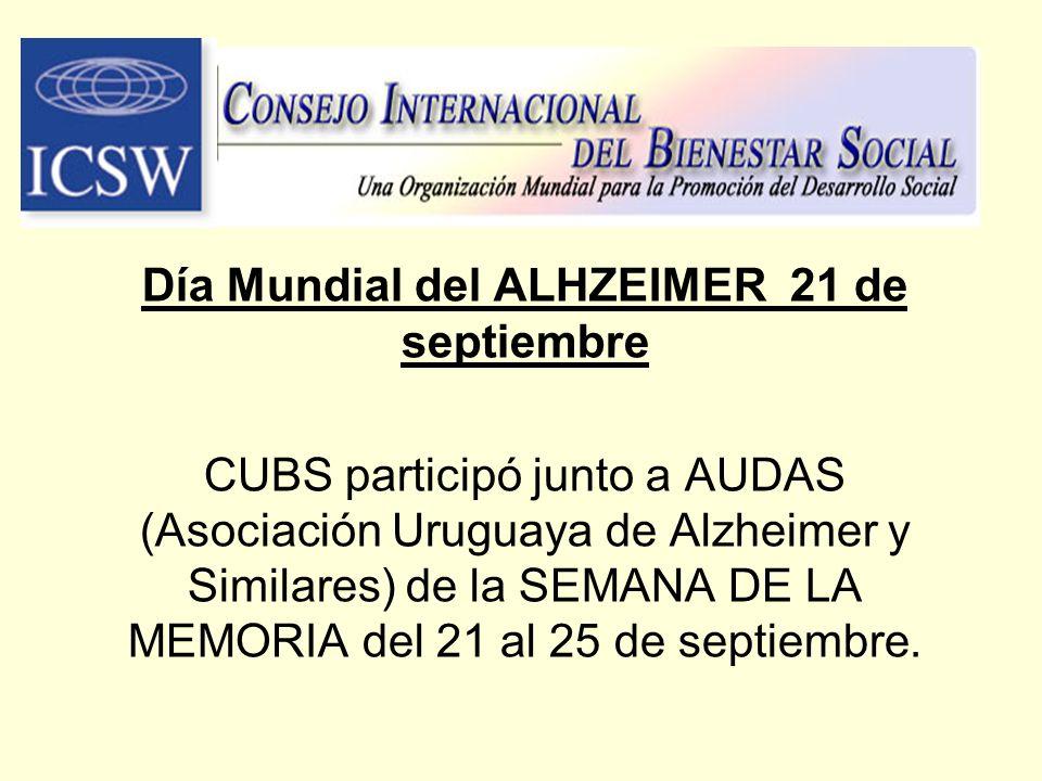 Día Mundial del ALHZEIMER 21 de septiembre