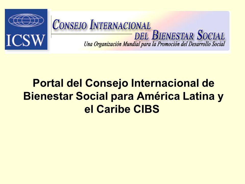 Portal del Consejo Internacional de Bienestar Social para América Latina y el Caribe CIBS