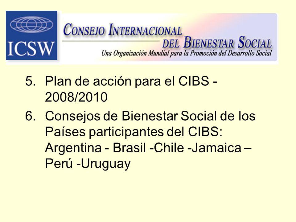 Plan de acción para el CIBS - 2008/2010