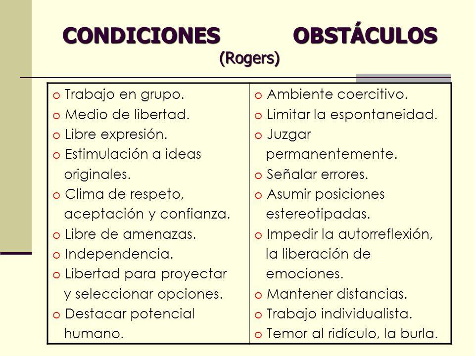 CONDICIONES OBSTÁCULOS (Rogers)