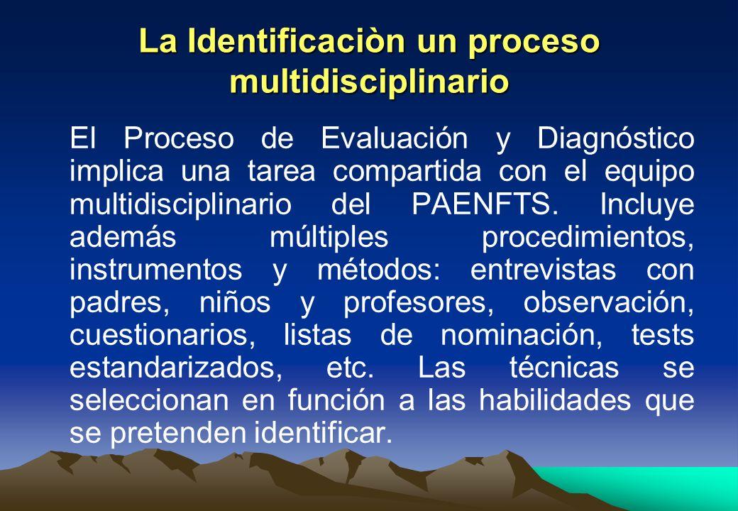 La Identificaciòn un proceso multidisciplinario