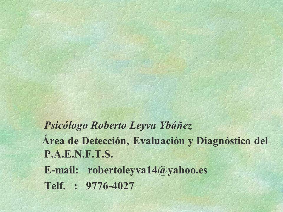 Psicólogo Roberto Leyva Ybáñez