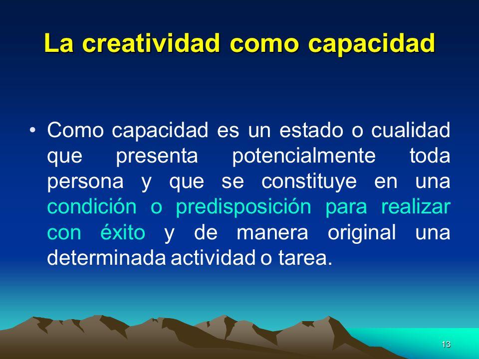 La creatividad como capacidad