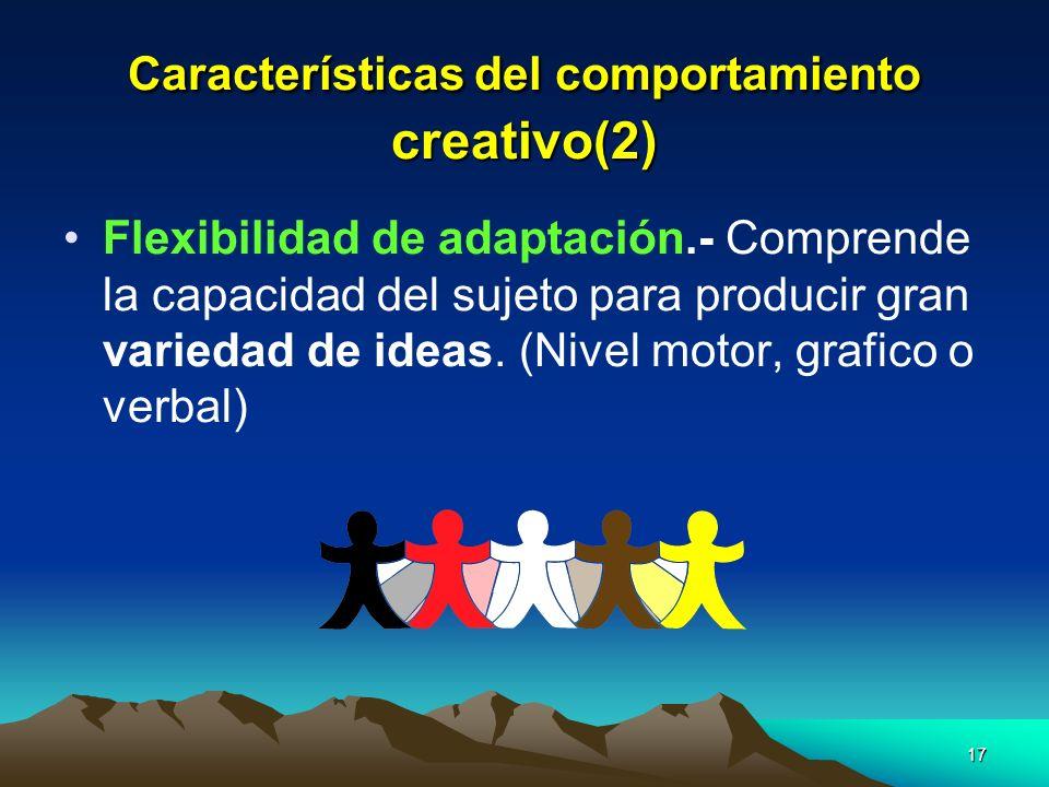 Características del comportamiento creativo(2)