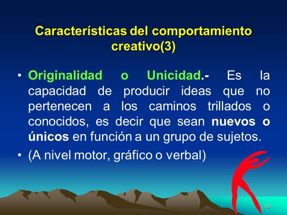 Características del comportamiento creativo(3)