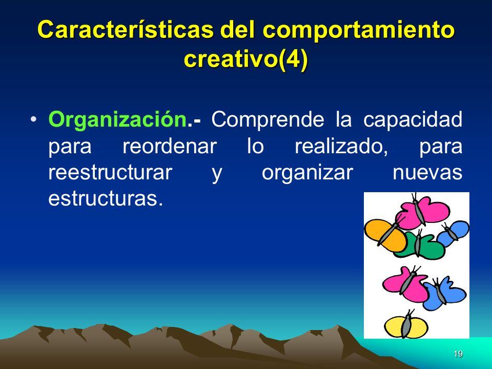 Características del comportamiento creativo(4)