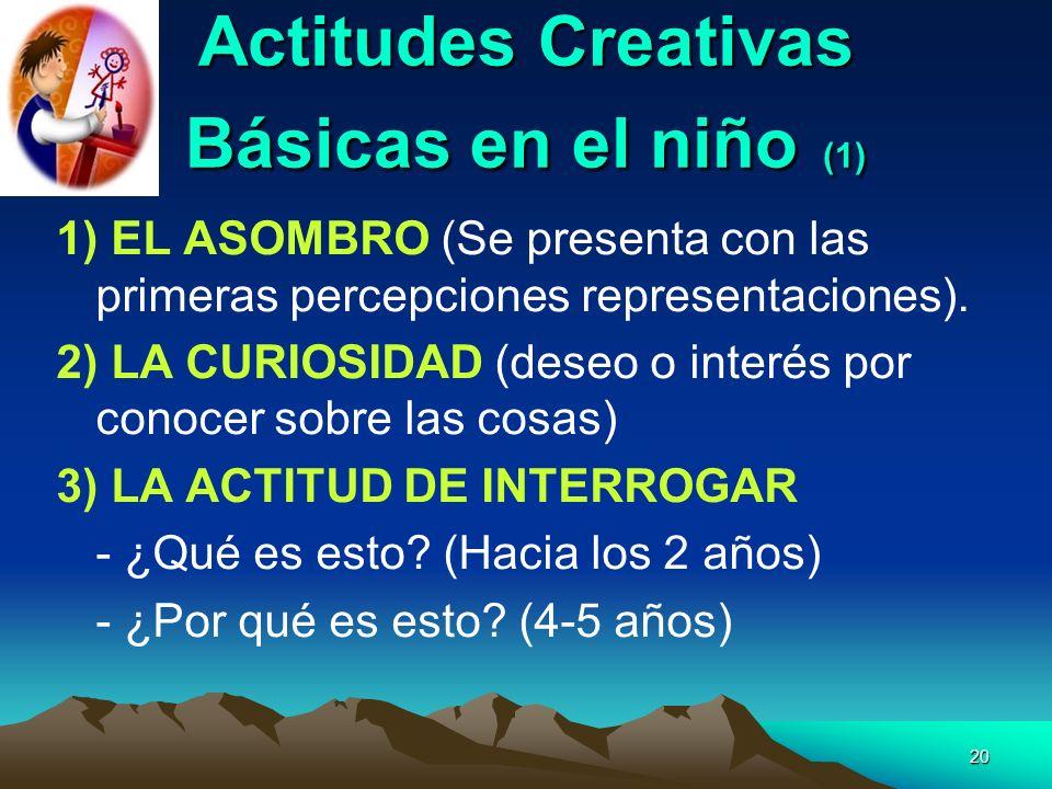 Actitudes Creativas Básicas en el niño (1)