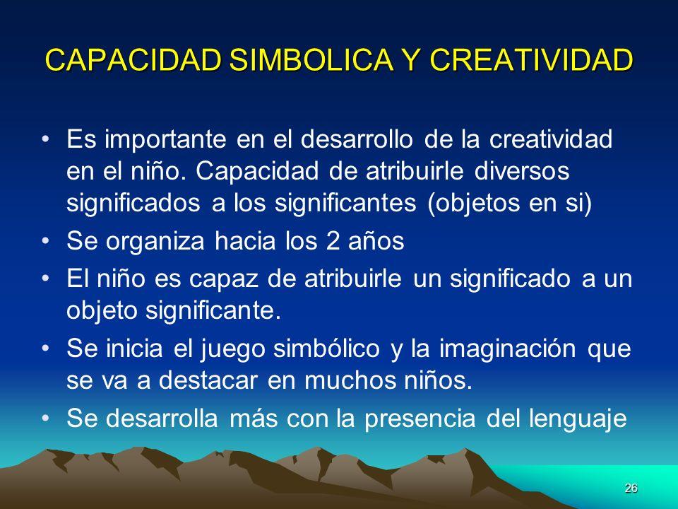CAPACIDAD SIMBOLICA Y CREATIVIDAD