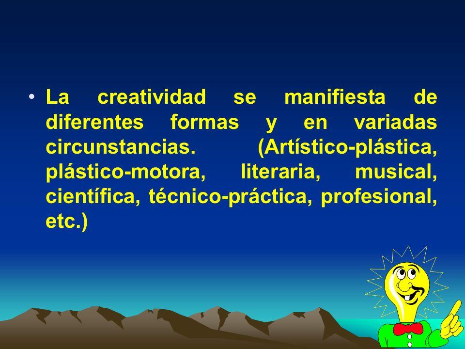 La creatividad se manifiesta de diferentes formas y en variadas circunstancias.