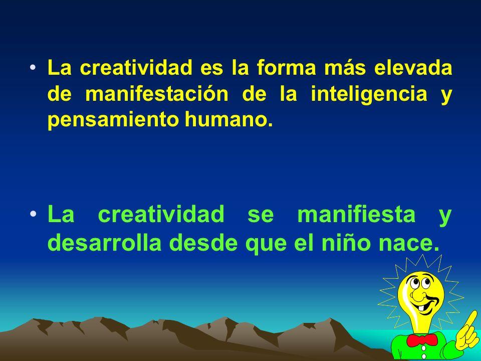 La creatividad se manifiesta y desarrolla desde que el niño nace.