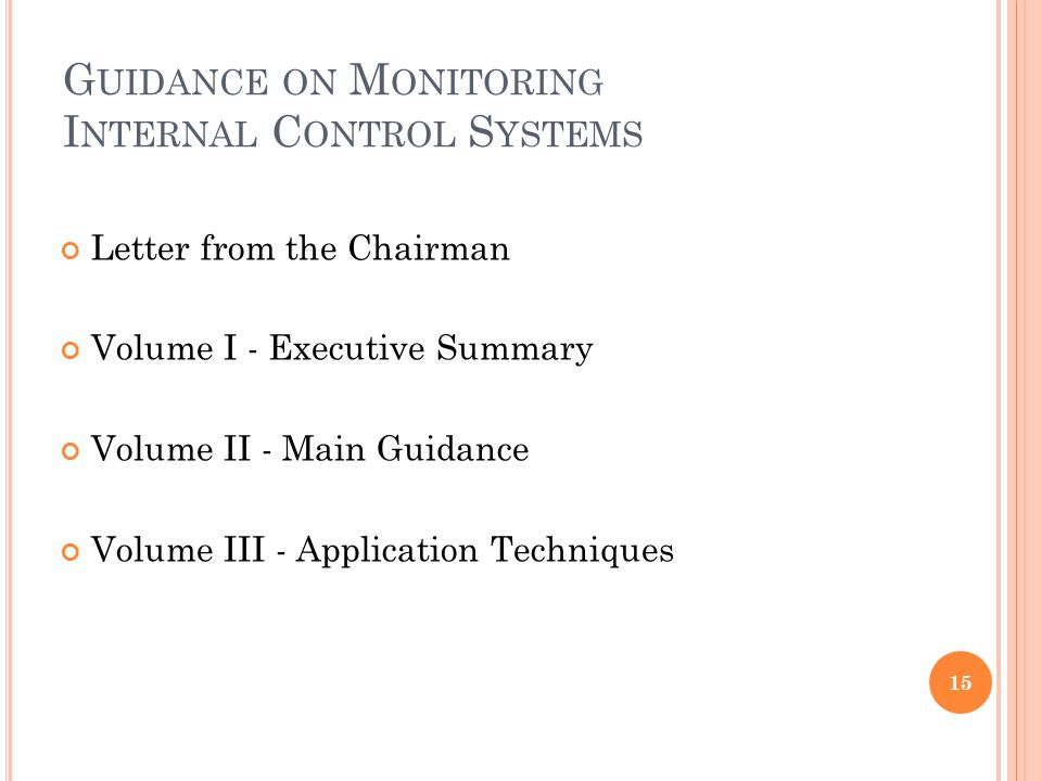 Guidance on Monitoring Internal Control Systems